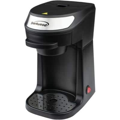 1-Cup Black Single-Serve Coffee Maker with Mug