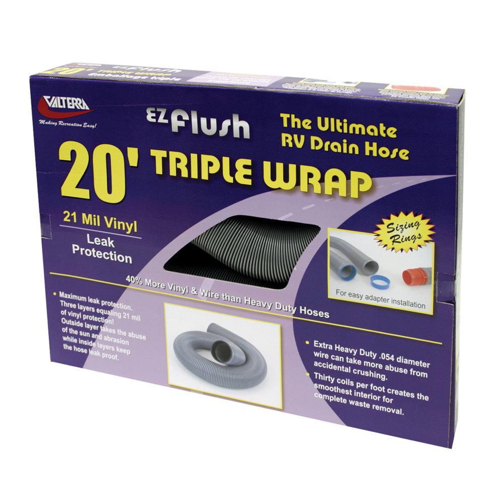 EZ Flush Triple Wrap RV Drain Hose - 20'