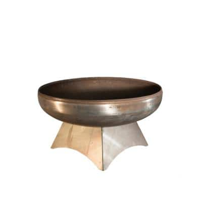 Liberty 24 in. x 14 in. Round Steel Fire Pit with Standard Base
