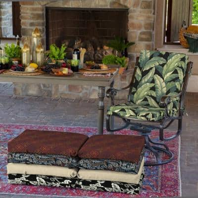 20 x 44 Onyx Cebu Outdoor Dining Chair Cushion