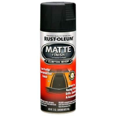 12 oz. Black Matte Finish Spray Paint