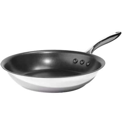 Earth Pan ETERNA 10 in. Stainless Steel Nonstick Frying Pan in Black Interior