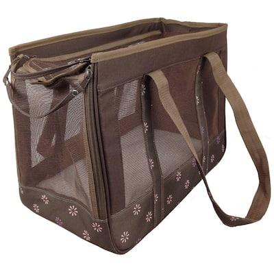 Mudd Brown Surround View Posh Fashion Pet Carrier - Medium