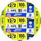 100 ft. 12/2 Solid Romex SIMpull CU NM-B W/G Wire