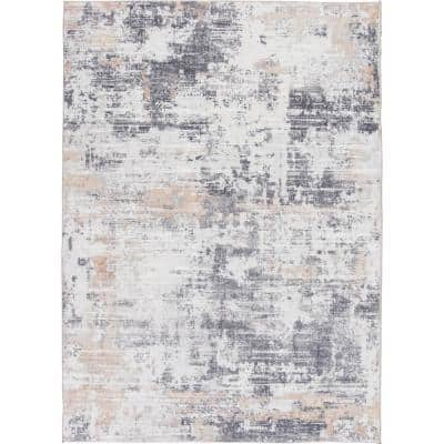 Bazaar Audria Multi 7 ft. x 9 ft. Painterly Polyester Area Rug