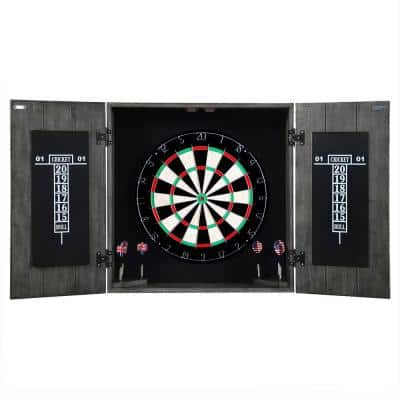 Drifter Solid Wood Dartboard and Cabinet Set