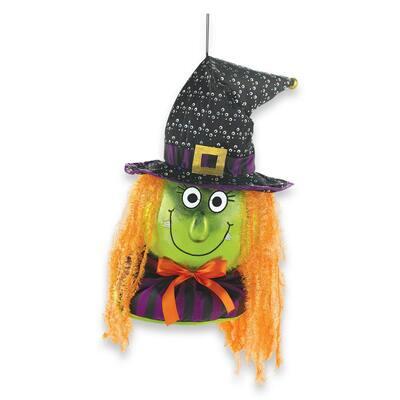 18.25 in. Halloween Jumbo Witch Door Decor