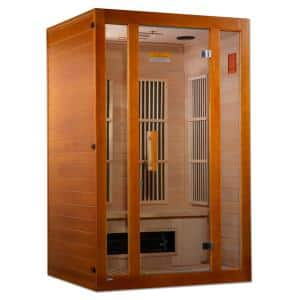 Lifesauna Aspen Upgraded 2-Person Infrared Sauna with 6 Dual Tech Multi Spectrum Infrared Heaters and Chromotherapy