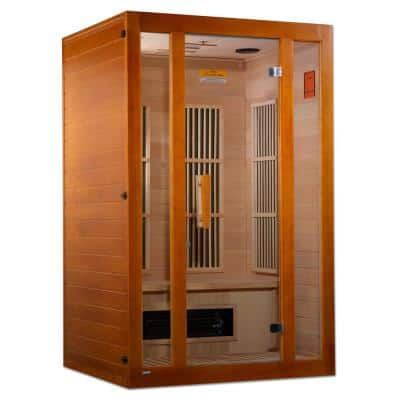 Lifesauna Aspen Upgraded 2-Person Electric Infrared Sauna with 6 Dual Tech Infrared Heaters and Chromotherapy