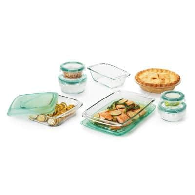 Good Grips 14-Piece Glass Bake, Serve and Store Bakeware Set