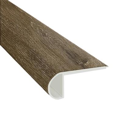 Trinity Mocha 0.94 in. T x 4.53 in. W x 94.49 in. L Luxury Laminate Flush Stair Nose Molding