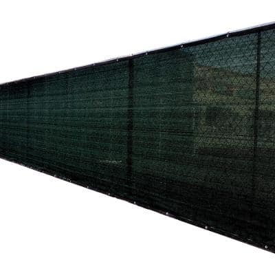 5 ft. x 50 ft. Black Privacy Fence Screen Netting Mesh with Reinforced Grommet for Chain Link Garden Fence