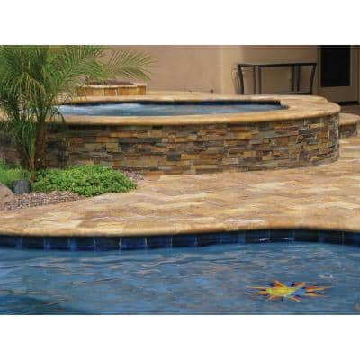 Porcini 16 in. x 24 in. Gold Travertine Pool Coping (10 Pieces / 26.7 Sq. Ft. / Pallet)