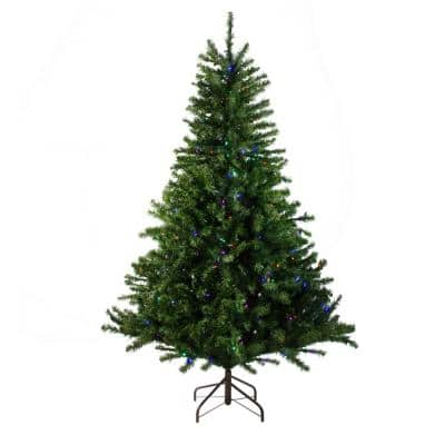 10 ft. Pre-Lit Canadian Pine Artificial Christmas Tree - Multi LED Lights