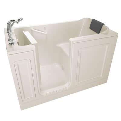 Acrylic Luxury 60 in. x 32 in. Left Hand Walk-In Air Bathtub in Linen