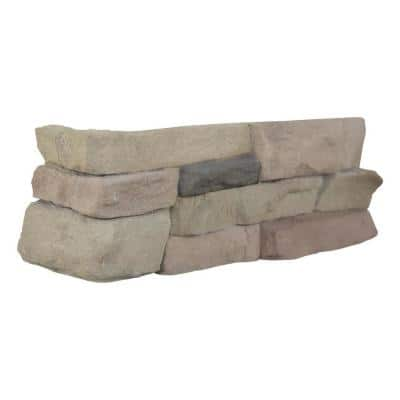 Terrado Bayside Sand Manufactured Stacked Stone Corner (4 sq. ft. / case)