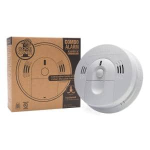 Code One Smoke & Carbon Monoxide Detector, Hardwired with AA Battery Backup & Voice Alarm