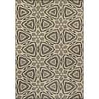 Dakota Geometric Charcoal 5 ft. x 8 ft. Indoor/Outdoor Area Rug