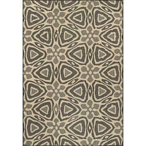 Dakota Geometric Charcoal 8 ft. x 10 ft. Indoor/Outdoor Area Rug
