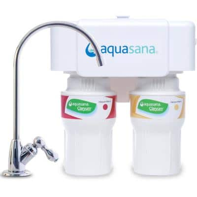 2-Stage Under Counter Water Filtration System with Chrome Finish Faucet