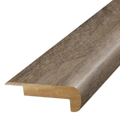 Pewter 3/4 in. T x 2-1/8 in. W x 78-3/4 in. L Laminate Stair Nose Molding