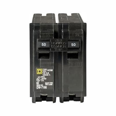 Homeline 50 Amp 2-Pole Circuit Breaker (3-Pack)