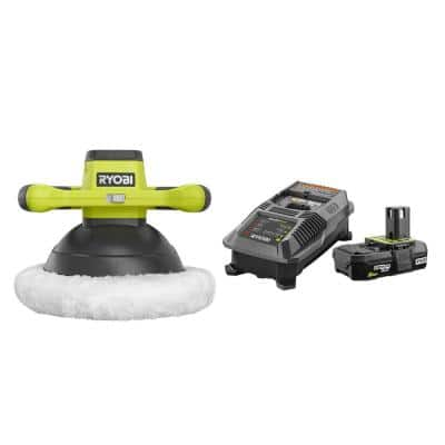 18-Volt ONE+ Cordless 10 in. Orbital Buffer with 2.0 Ah Battery and Charger Kit