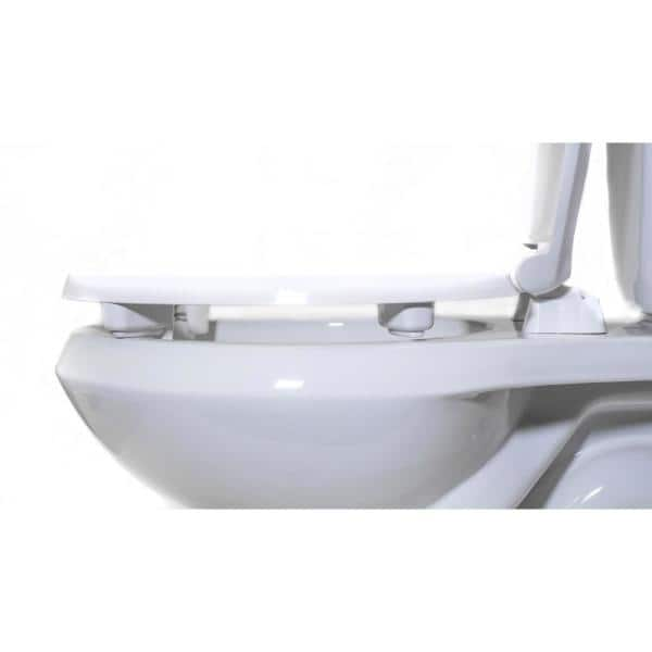 Centoco Centoco Ada Compliant Round Raised Closed Front With Cover Toilet Seat In White Hl440sts 001 The Home Depot