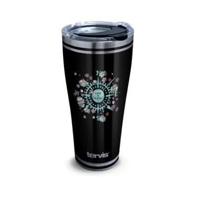 LIG Floral Compass 30 oz. Stainless Steel Tumbler with Lid