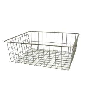 17 in. x 7.5 in. Nickel Ventilated Wire Drawer