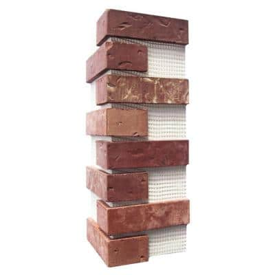 Brickwebb Independence Thin Brick Sheets - Corners (Box of 3 Sheets)  21 in x 15 in (5.3 linear ft.)