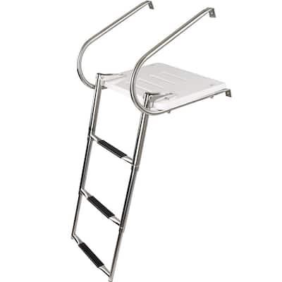 300 lbs. 3-Step Telescoping Boat Ladder
