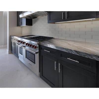Oyster Gray 4 in. x 12 in. Mixed Glass Tile (5 sq. ft. / case)