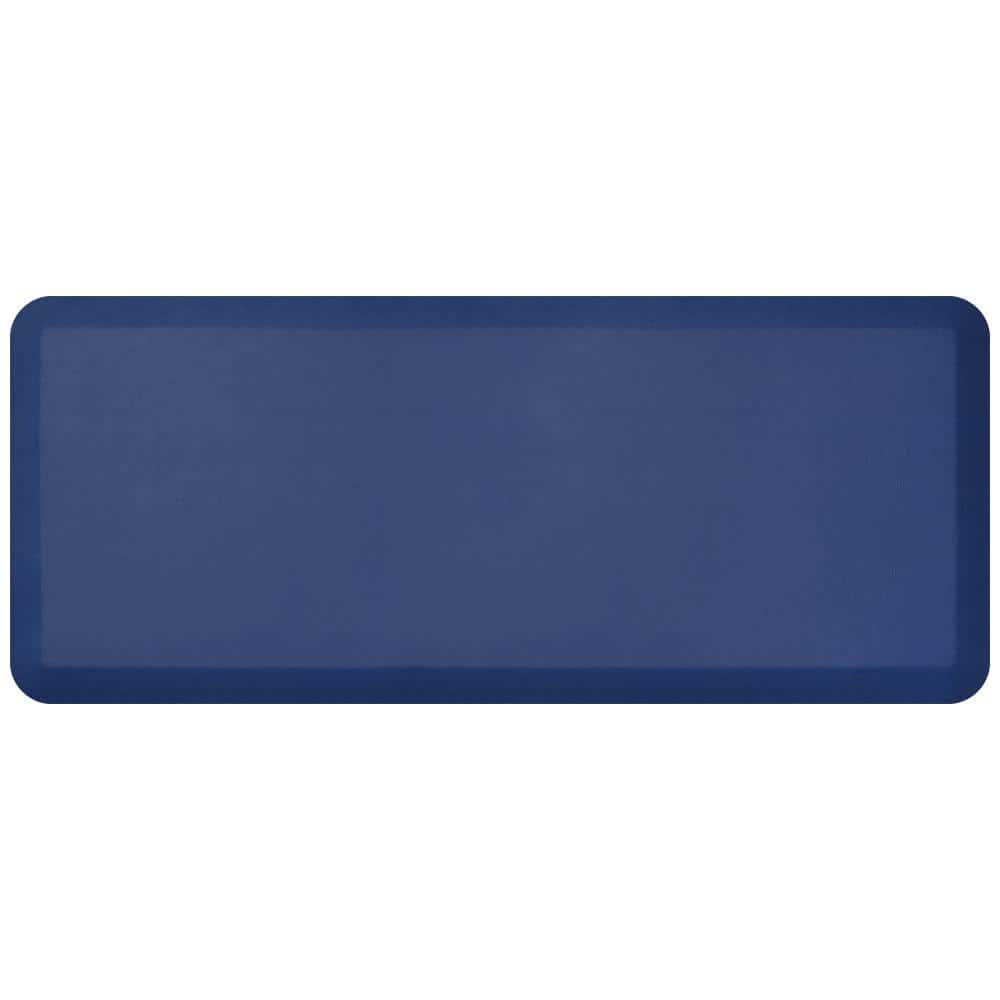 Gelpro Newlife Designer Leather Grain Navy 20 In X 48 In Anti Fatigue Comfort Kitchen Mat 106 16 2048 9 The Home Depot