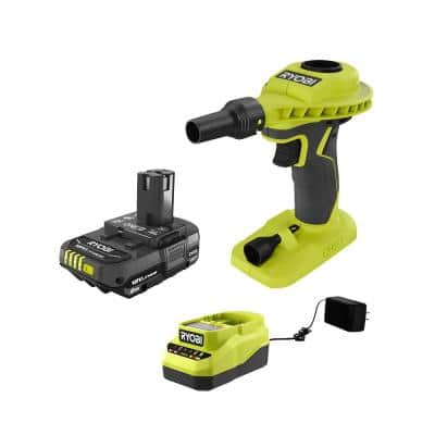 ONE+ 18V Cordless High Volume Power Inflator and 2.0 Ah Compact Battery and Charger Starter Kit