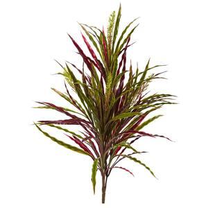 Indoor 28 in. Fall Vanilla Grass Artificial Plant (3-Set)