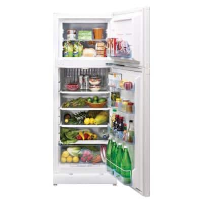 9.7 cu. ft. Propane Top Freezer Refrigerator Dual Power in White (Propane/110-Volt)