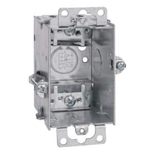 3 in. x 2-1/2 in. 1-Gang 12.5 cu. in. Deep Old Work Switch and Outlet Box