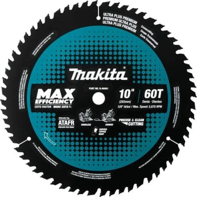 10 in. 60T Carbide-Tipped Max Efficiency Miter Saw Blade