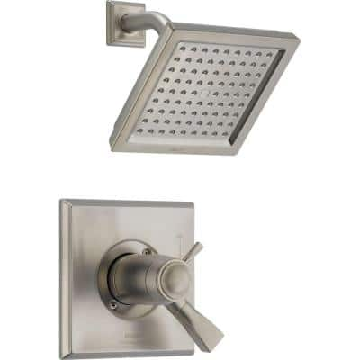 Dryden TempAssure 17T Series 1-Handle Shower Faucet Trim Kit Only in Stainless (Valve Not Included)
