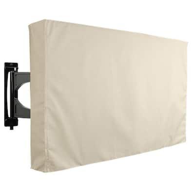 46 in. - 48 in. Beige Outdoor TV Universal Weatherproof Protector Cover