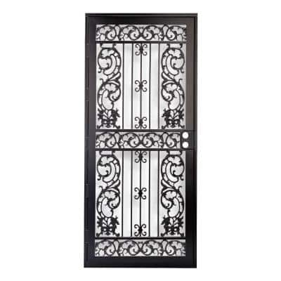 36 in. x 80 in. 414 Series Black Elegance Security Door