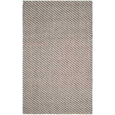 Natural Fiber Beige/Gray 6 ft. x 9 ft. Indoor Area Rug