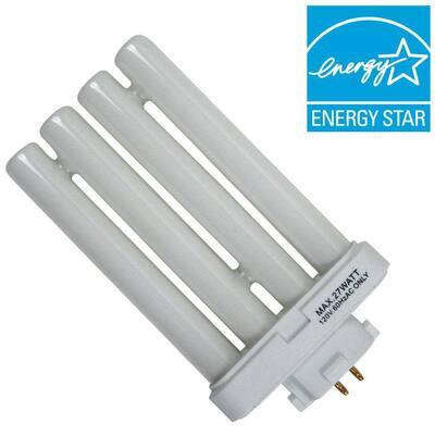 6 in. U-SHAPE 27-Watt White (6500K) Linear Fluorescent Light Bulb