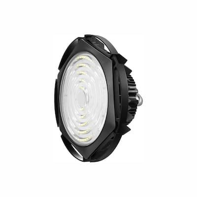 Waterproof UFO 185-Watt Black 5000K 27750 Lumens IP65 Integrated LED High Bay Light