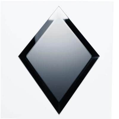 Reflections Frosted Blue Beveled Diamond 6 in. x 8 in. Matte Glass Mirror Wall Tile (16 sq. ft./Case)