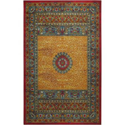 Tinley Gold 10 ft. x 14 ft. Indoor Area Rug