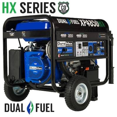 4850/3850-Watt Dual Fuel Electric Start Gasoline/Propane Portable Generator with CO Alert Shutdown Sensor