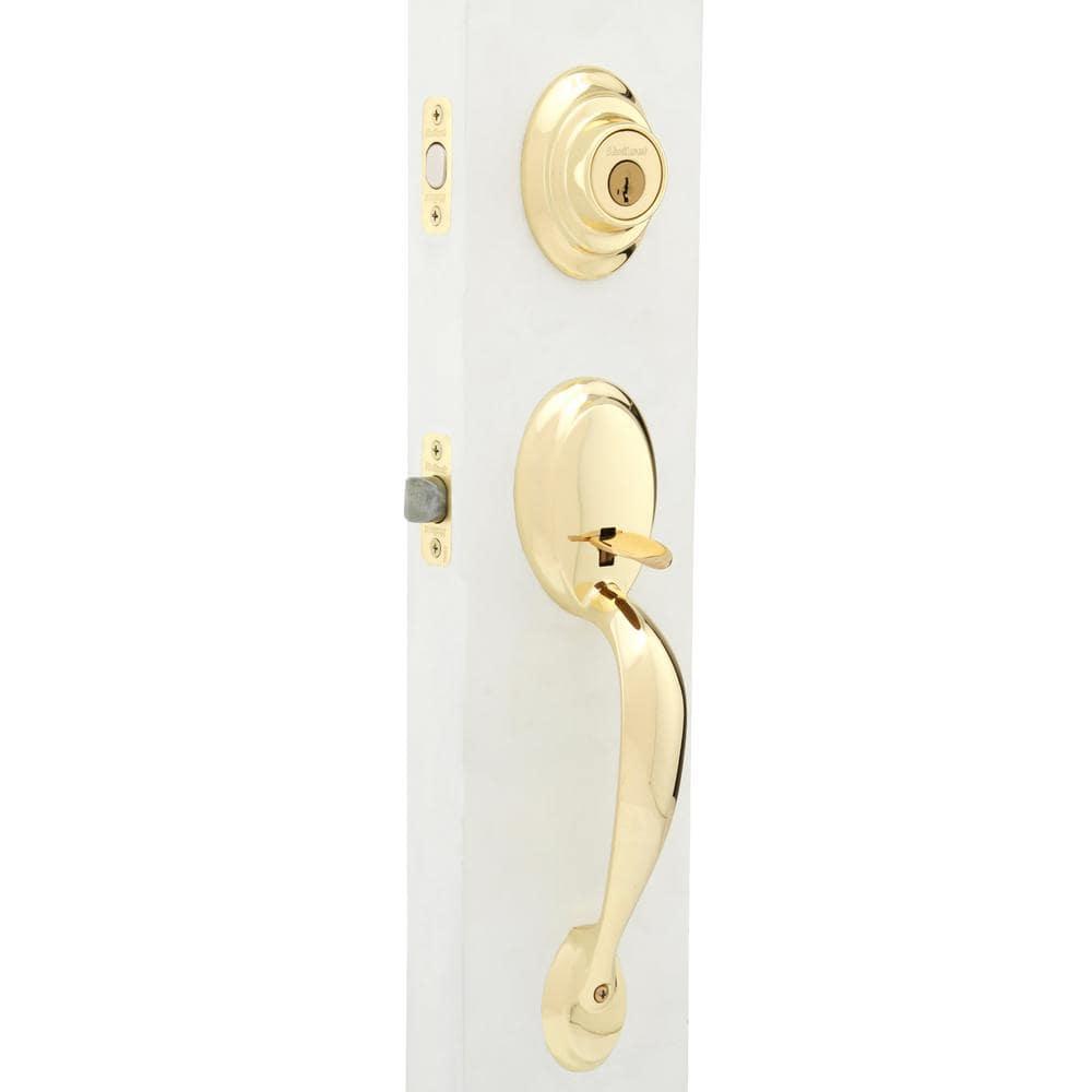 Dakota Satin Nickel Single Cylinder Door Handleset with Polo Door Knob Smartkey