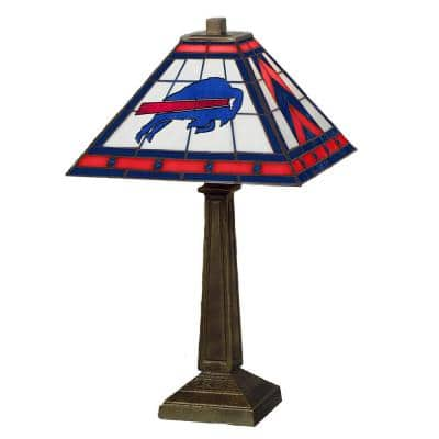 NFL 23 in. Antique Bronze Stained Glass Mission Lamp- Bills